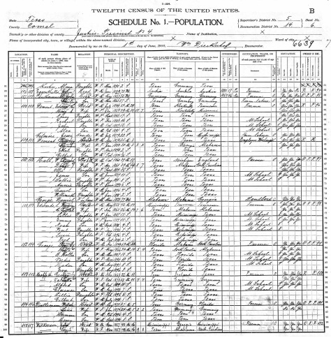 George, Daniel Ball 1900 US Federal Census