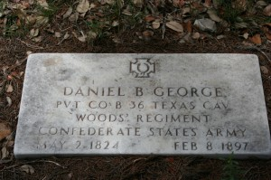 George, Daniel Ball (1823) - 1904 Military Headstone Photo - FAG Contributor Wimberly Genealogy